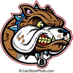 bulldogge, mittel, maskottchen