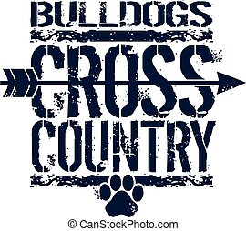 Bulldogs überqueren das Land.