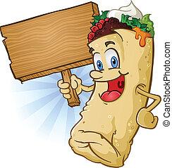 Burrito-Zeichenzeichen
