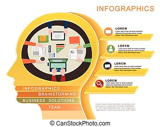 Business concept infographic template design.