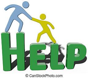 Business-Conulting-Unterstützung hilft Menschen.