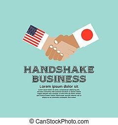 Business Handschlag.