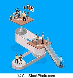 Business Infographics isometrisches
