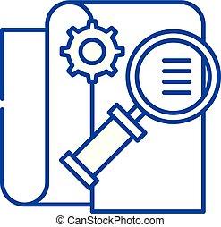 Business Intelligence Line Icon Konzept. Business Intelligence flaches Vektor-Symbol, Zeichen, Darstellung.