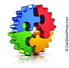 Business Kreativität und Erfolgskonzept.