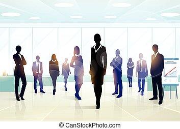 Business-Leute Gruppen Silhouette Executives-Team.