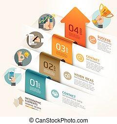 Business Marketing Pfeil Zeitlinie Vorlage. Vector Illustration. Kann für Workflow-Layout, Banner, Diagramm, Nummernoptionen, Webdesign, infographische Vorlage verwendet werden.