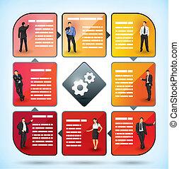 Business Mitarbeiter Präsentationskarte.