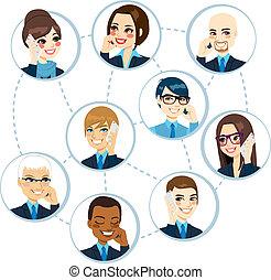 Business Network Konzept.