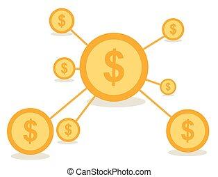 Business Network Konzept Vektor des.