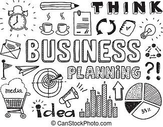 Business-Planung Doodles Elemente
