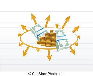 Business Profit Diagramm Illustration.