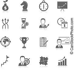 Business Strategieplanung Symbole.
