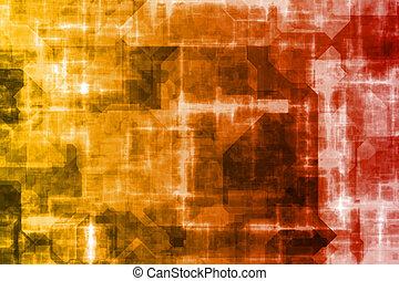 Business System abstrakter Hintergrund.