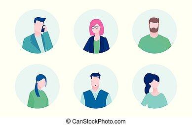 Business-Team - Flat Design-Stil Illustration
