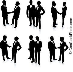 Business-Team Silhouette Sammlung.