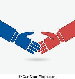 Business Teamwork Logo Konzept