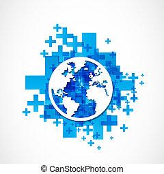 Business World Globus Konzept.