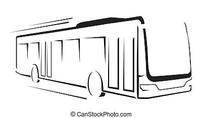 Bussymbol vektorgrafik.