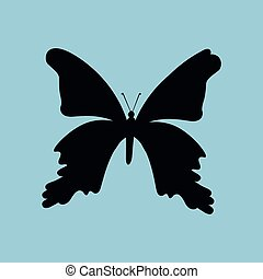 Butterfly Silhouette.