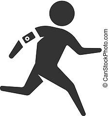 BW Icon - laufender Athlet