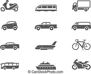 BW-Ikonen - Transportmittel