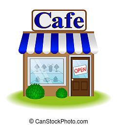 Café Fassade, Vektor Icon