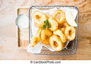 Calamari-Ringe.