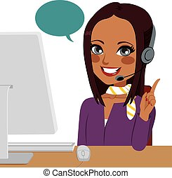 Call Center indische Frau.
