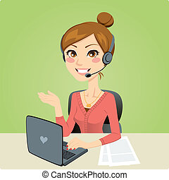 Callcenter-Frau