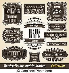 Calligraphisches Element, Grenz- und Einladungssammlung.