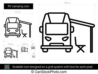 Camping-Ikone.