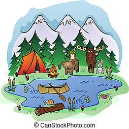 Camping im Sommer mit Tierfreunden