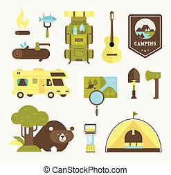 Camping-Vektor-Icons.