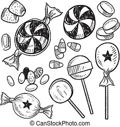 Candy Assortment Sketch