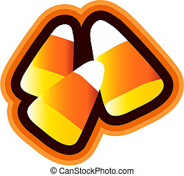 Candy Corn isoliert