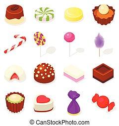 Candy Icon Set, isometrische Stil