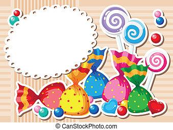 Candy Sticker Hintergrund