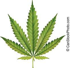 Cannabis Blätter-Cartoon.