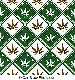 Cannabis nahtlose Struktur