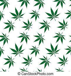 Cannabis nahtloses Muster erweitert