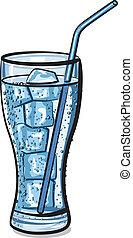 carbonated, eiswasser, glas, frisch, kühl