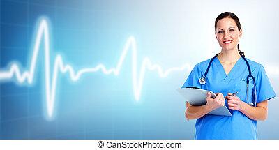 care., doktor, gesundheit, medizin, woman.