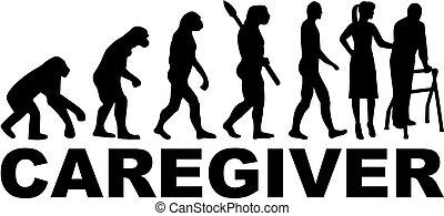 Caregiver Evolution Job Titel weiblich.