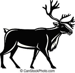 caribou-walking-side-retro