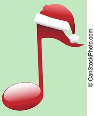 Carol-Musiknote für Weihnachtsmusik