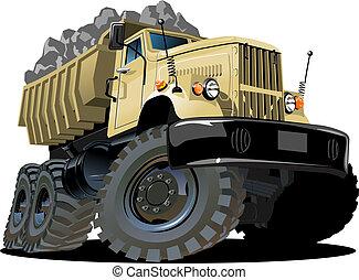 Cartoon-Abladewagen