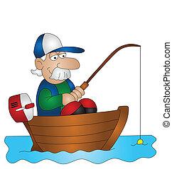 Cartoon Angler