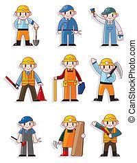 Cartoon Arbeiter-Ikone