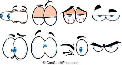 Cartoon Augen 2 Sammlung.